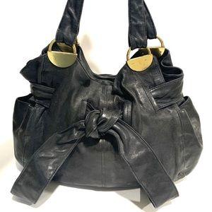 Kooba Elisha Large Bow Leather Hobo Shoulder Bag